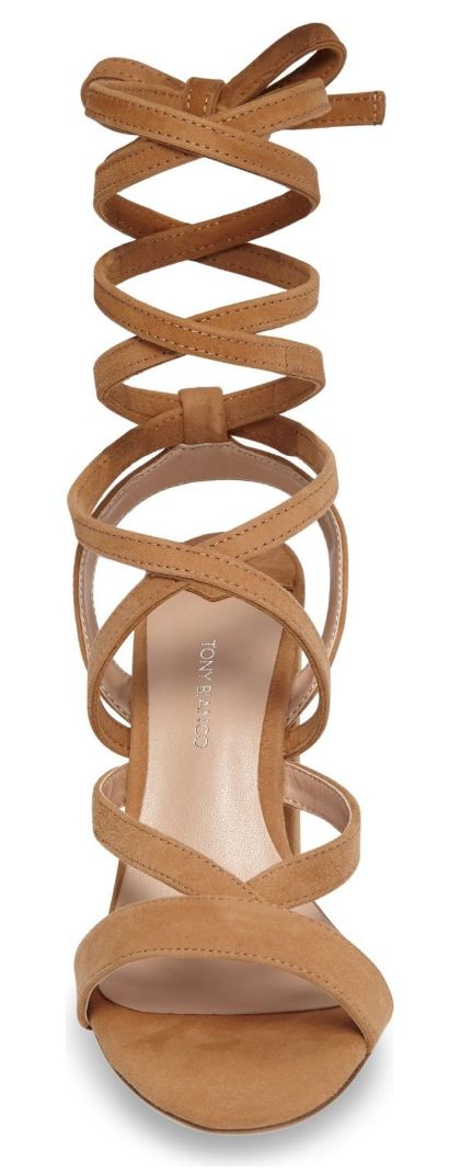 Beautiful ankle wrap sandal