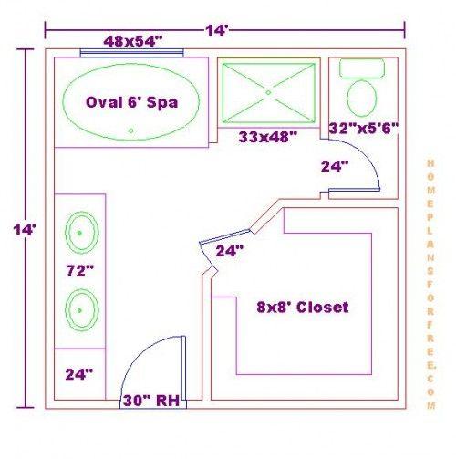 Bathroom And Closet Floor Plans | ... Plans/Free 10x16 Master Bathroom Floor  Plan With Walk In Closet | Bathroom | Pinterest | Bathroom Floor Plans, ...