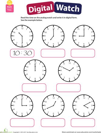 Telling Time: Practice Reading Clocks | Clock, To tell and 1st grades