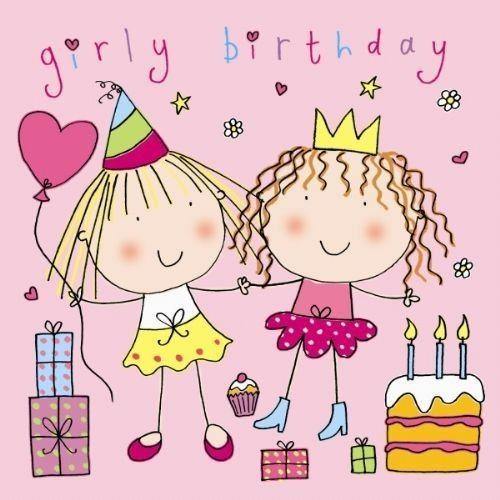 Alles Gute Zum Geburtstagkarte Der Girly Zwillinge