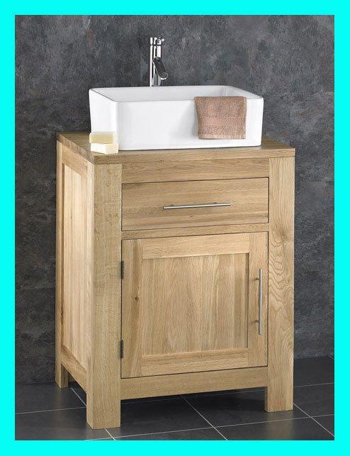 Alto solid oak wooden cabinet sink washbasin bathroom sink vanity unit inc tap vanity units - Oak bathroom sink vanity units ...