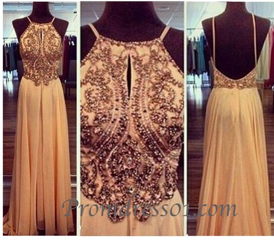 prom dress, vintage prom dress #prom2015 Handmade item Materials: chiffon, sequin, bead Made to order Color: refer to image Processing time:25 business days Delivery date:5-10 business days Dress code:E0302 Fabric: Chiffon Embellishment: Sequin, bead Straps: With straps Sleeves:Sleeveless Silhouette: A-Line Neckline: R...