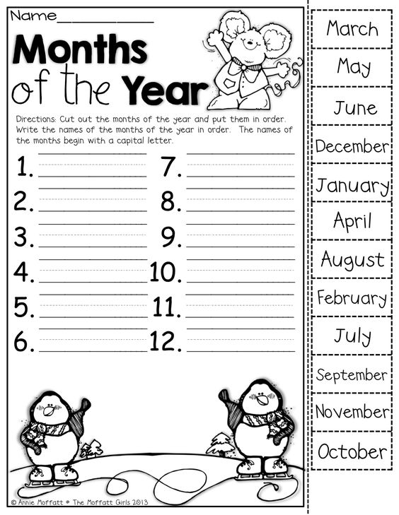 Number Names Worksheets worksheet for months of the year : Pinterest • The world's catalog of ideas