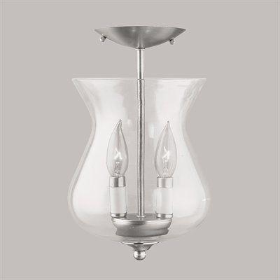 Livex Lighting 4393 2 Light Home Basics Convertible Chain Hang Semi Flush Ceiling Light