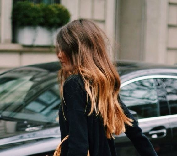 The perfect hair color, right?! — An Aesthetic Pursuit Style. Blunt ends