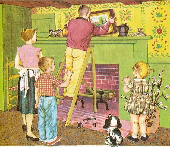 From  WE HELP DADDY (1962) - written by Mini Stein; illus. by Eloise Wilkin. LGB #468. Cassandra Considers: A Lovely Time, Not Very Long Ago...Thank You, Eloise Wilkin!