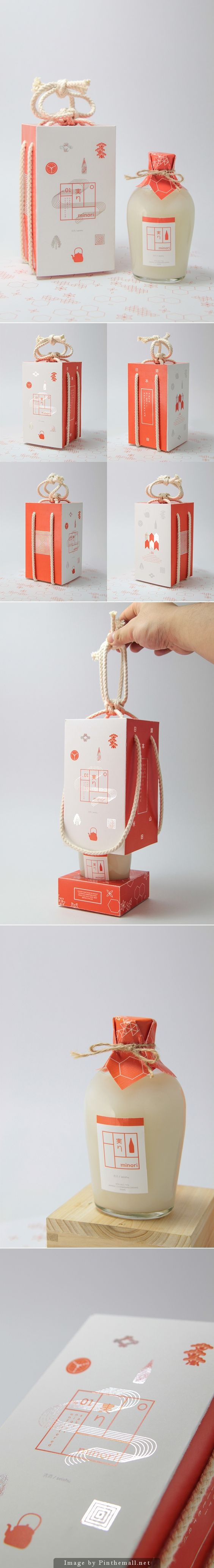 The very beautiful Minori Sake packaging curated by Packaging Diva PD. 'Minori' meaning harvest in Japanese.