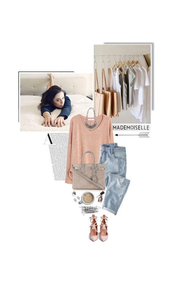 """""""mademoiselle"""" by beingaries ❤ liked on Polyvore featuring moda, Rosanna, MANGO, Valentino, Wrap, Yves Saint Laurent, Bobbi Brown Cosmetics i DANNIJO"""