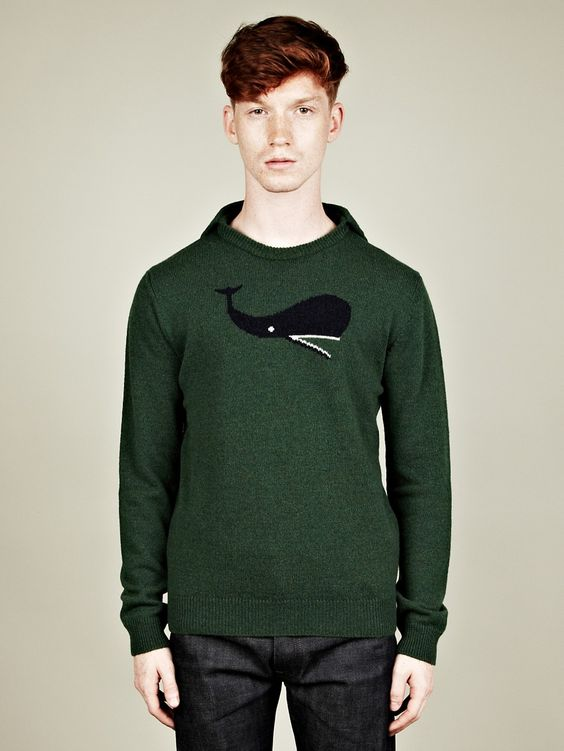 Jil Sander Men's Caped Camel Blend Whale Knit