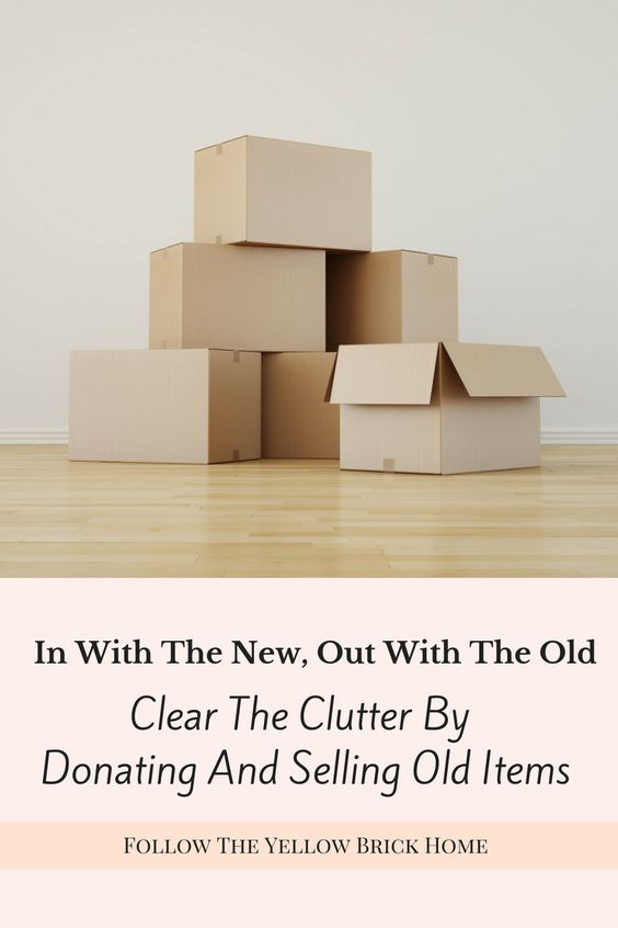 In order to give your home a beautiful new makeover first you must clear the clutter! Donating and selling old items will help make room for new and fresh decor while keeping things organized and clutter free.