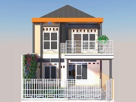 Desain Rumah Minimalis Sederhana 2 Lantai 14 X 11 Dan 4 Kamar FULL Denah Dan Tampak - YouTube #balkon Rumah 2 Lantai Rumah 2 La…   House Design, House Styles, House