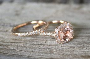 Rose Gold  Rings. I used to think I'd only want white gold, but this color is gorgeous