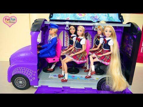 Letto A Castello Barbie.Scuolabus Bambola Barbie Youtube Barbie Scuolabus Bambole