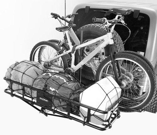 Combination Folding Cargo Carrier Two Bike Rack Hitch Cargo