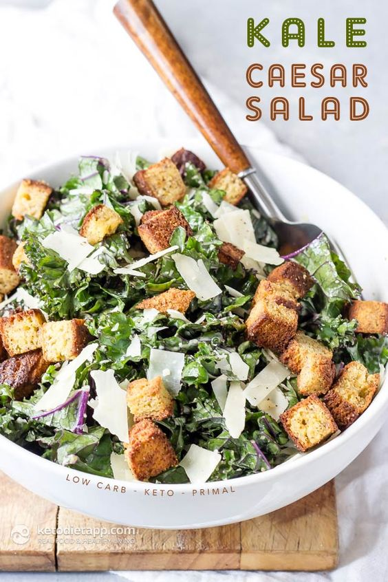 Low-Carb Kale Caesar Salad Recipe