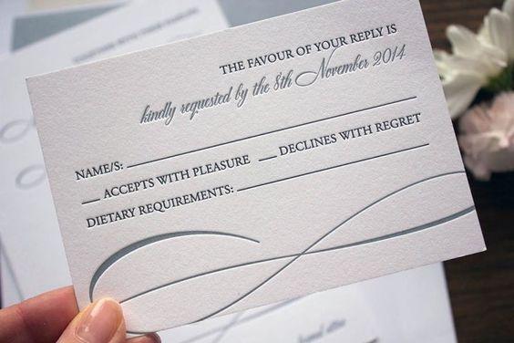 Wedding Invitation Wording: Reply Cards - Pink Teapot Letterpress