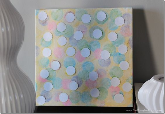 DIY Bokeh Art // Easy Craft for Kids  created with Mod Podge and Apple Barrel paints