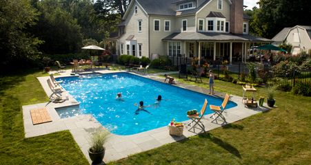 Swimming backyards and backyard paradise on pinterest - How much are inground swimming pools ...
