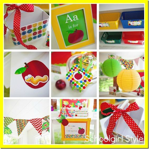 Classroom Decor Primary Colors ~ Apple primary colors chevron classroom theme and decor by