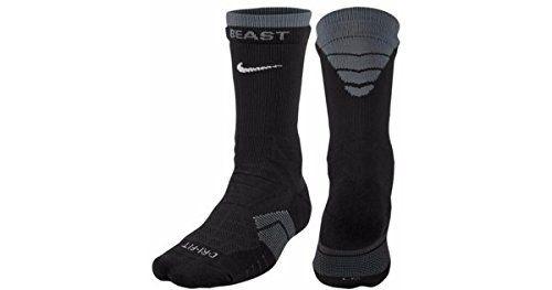 Nike Men's Elite Vapor Cushioned Football Socks (Black/Flint ...