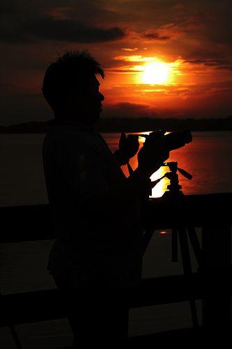 Sunsetting over photographer