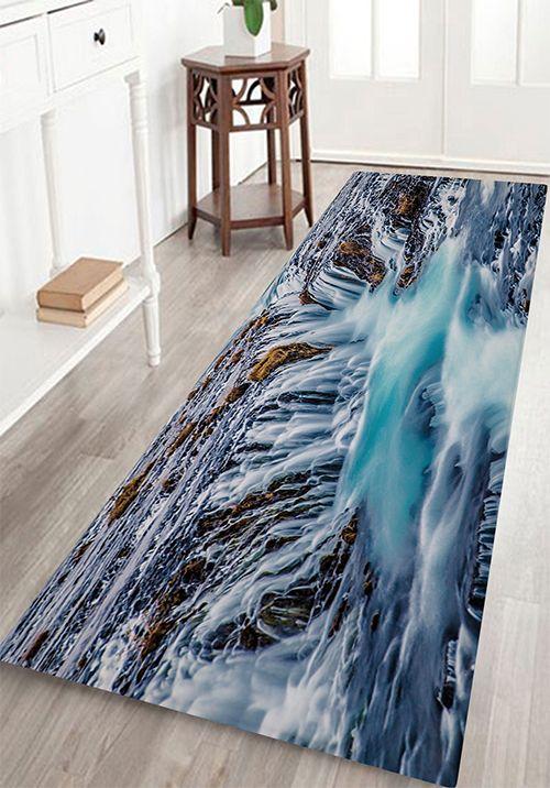 Waterfalls Print Antiskid Floor Rug Natural Carpet Cleaning Carpet Cleaning Hacks Floor Rugs