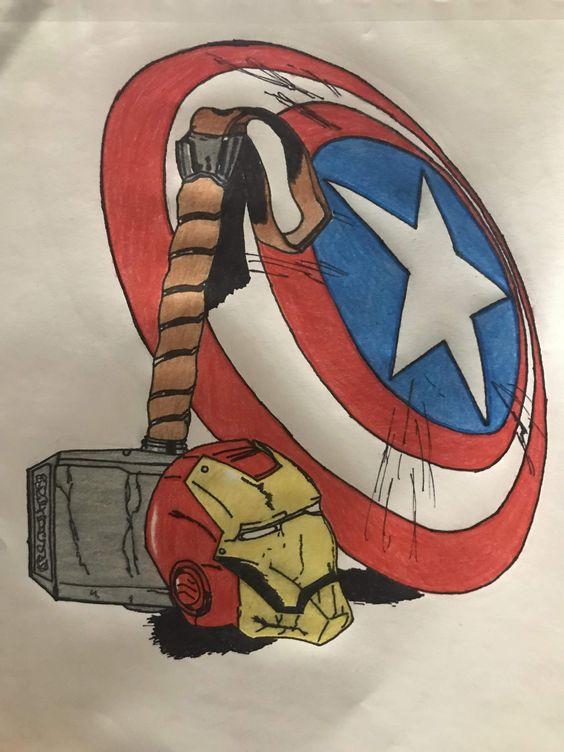 Pin By Kelsey Lowe On Art Avengers Painting Marvel Paintings Marvel Artwork