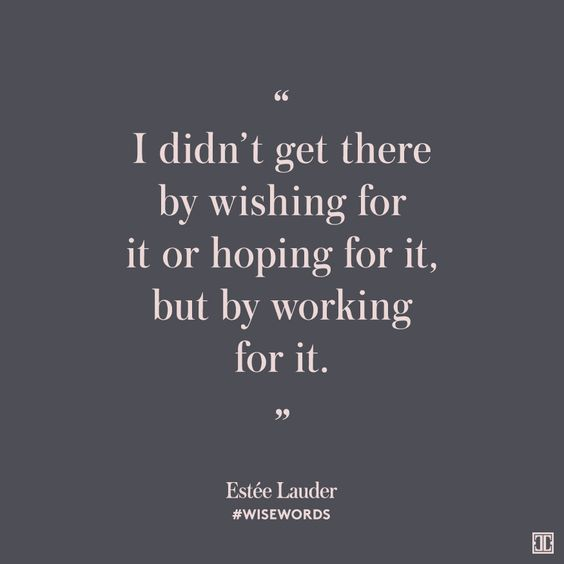 #WiseWords from Estée Lauder:
