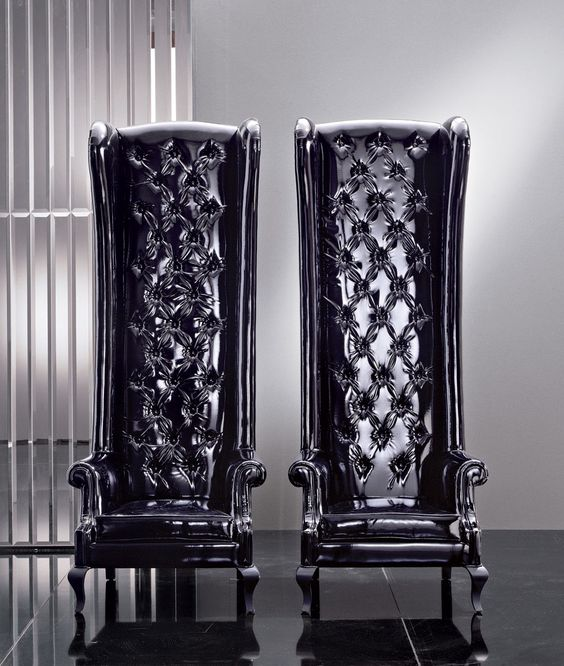 awesome chairs! #home #decor #dark #black #gothic: