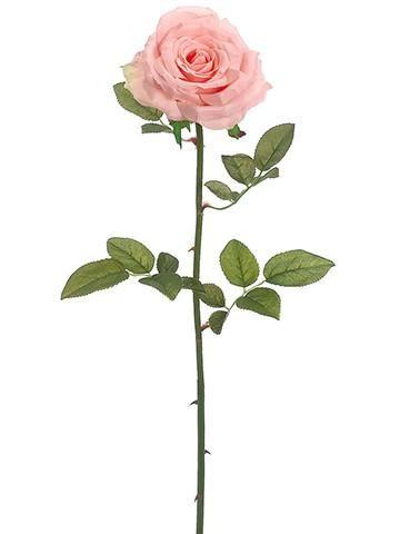 Suzette Garden Open Silk Rose in Peach Pink