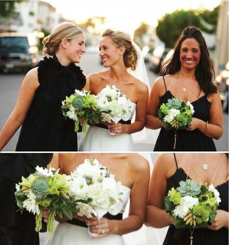 Bouquets & pretty girls