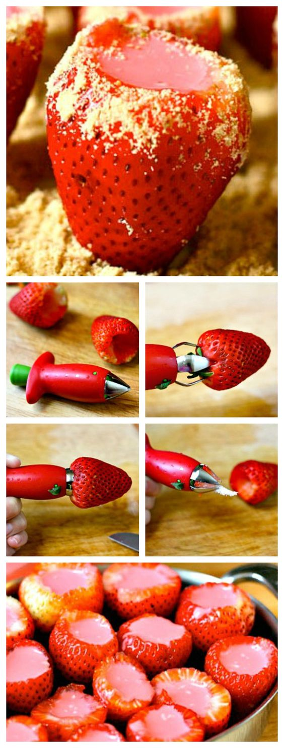 #Spike your sweets: #Strawberry #Cheesecake #JelloShots!