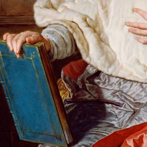 """Charles de Saint-Albin, Archbishop of Cambrai"" (1723) (detail) by Hyacinthe Rigaud (1659-1743)."