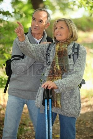 This is me and my husband bill, we love to go hiking in chile.