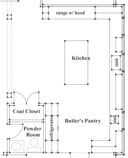 While an overall floor plan is commonly at a scale of 1/4 inch equals 1  foot, certain rooms are drawn at a larger scale  say, 1/2 inch equa.