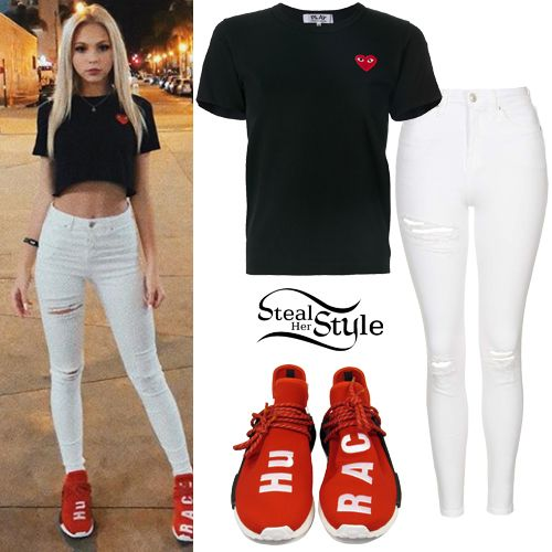 Jordyn Jones: Adidas Colorblock Sweatshirt | Steal Her Style