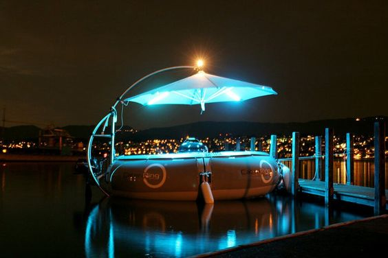 Aqua Donut, Docklands, Melbourne - Aqua Donut is a floating device with a barbecue station to enable a unique DIY dining experience as you cruise along the picturesque waters of the Docklands - aquadonut.com/