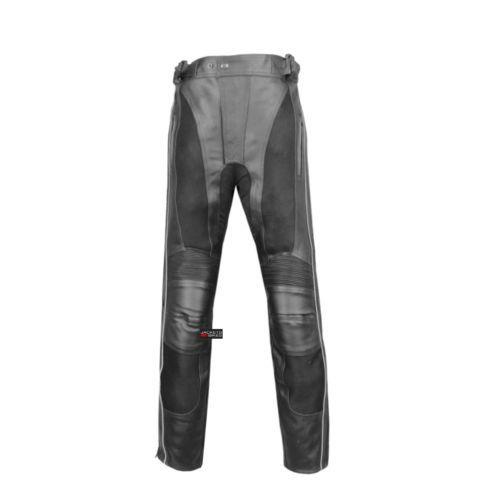 Men S Armor Mesh Motorcycle Pants Biker Leather Chaps Zipper Leg Closure Ebay Motorcycle Pants Biker Leather Leather