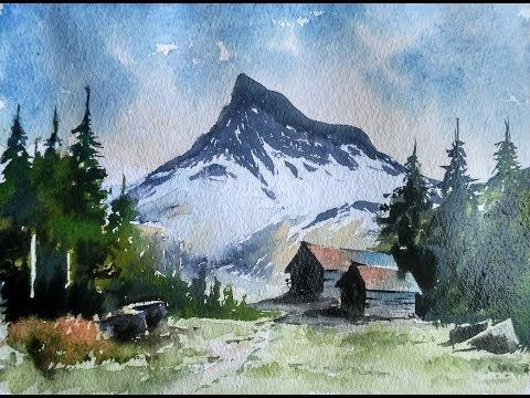 Beginners Mountain Watercolor Paint With David Youtube Watercolor Mountains Watercolor Landscape Watercolor Paintings