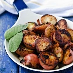 Red Potatoes with Bacon and Sage #foodgawker: Fabulous Foods Potatoes, Red Potatoes, Potatoes Recipe, Sides Potatoes, Potato Recipes, Recipes Good Food