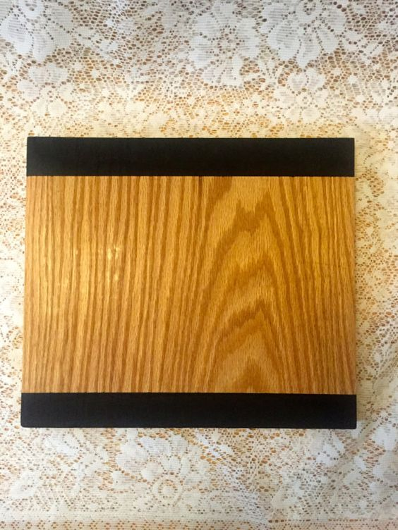 Wooden Cutting Board with Chalkboard Edges