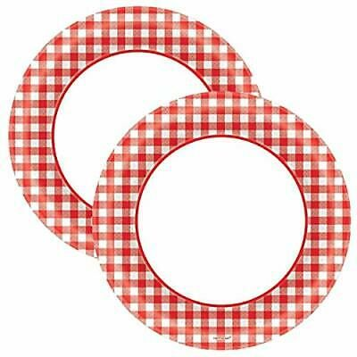 Sponsored Link Amscan Disposable Classic Picnic Red Gingham