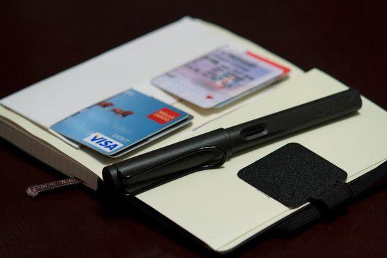 Chris Poldervaart :: Blogland: My Moleskine Planner/Journal/Wallet Setup and Hacks