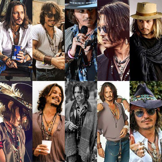 Johnny Depp's bohemian style