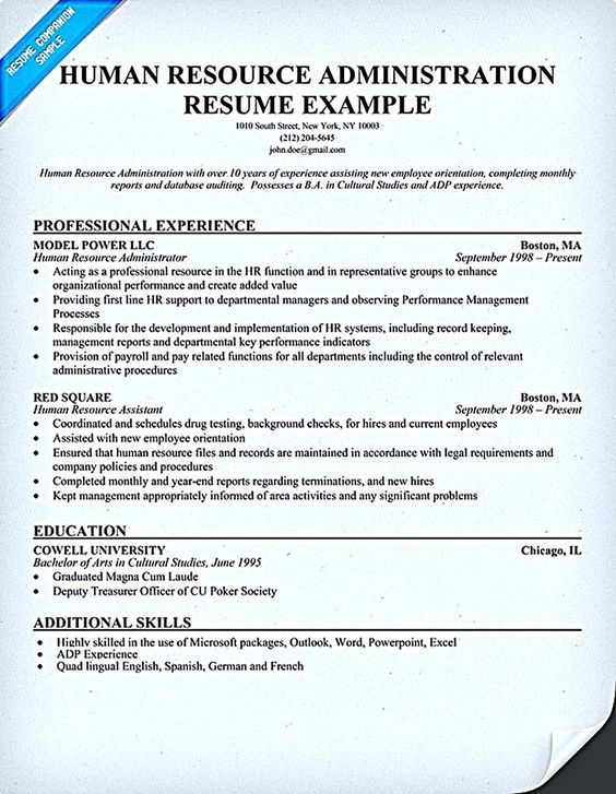 cool Writing an Attractive ATS Resume, Check more at http\/\/snefci - sample human resource administration resume