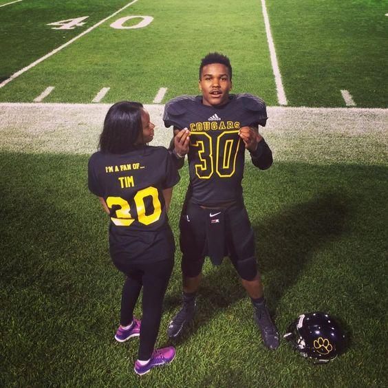 black relationship goals football player
