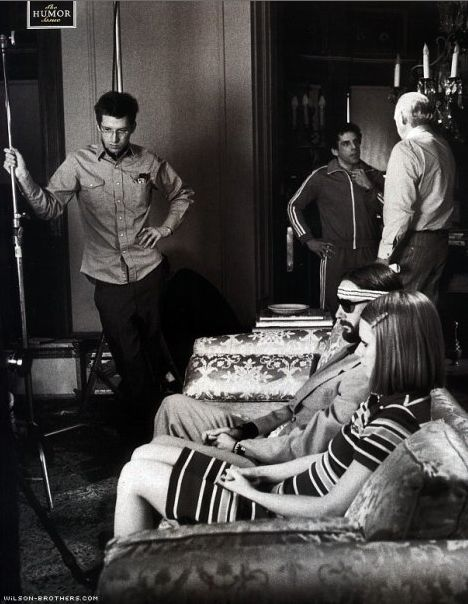 Wes Anderson on the set of The Royal Tenenbaums