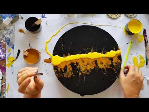 Sink Strainer Pour Diy Fluid Art With Acrylic Paints Youtube