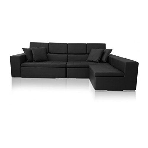 Reversible Sectional Sofa Black