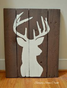 Simply Stone Creek : Make It Monday! Deer Head Silhouettes on Pallet Wood